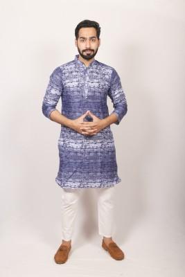 Men  Braso cotton print panjabi PJ-211