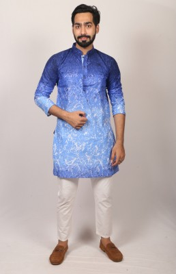 Men  Braso cotton print panjabi PJ-214