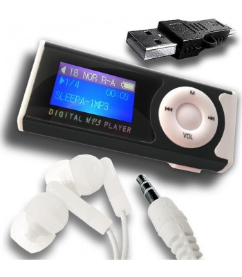 MP3 Music Player With LCD Display & LED Torch-C: 0173