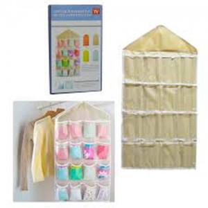 Wardrobe Wall Mounted 16 Grid Storage Bag-C: 0177