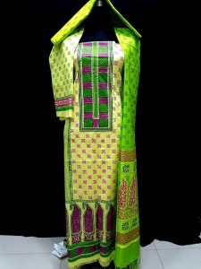 unstiched block printed cotton replica three pcs salwar kameez seblock