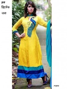 unstiched block printed cotton replica three pcs salwar kameez