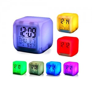7 Color Digital LED Clock With Alarm-C: 0187
