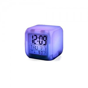 7 Color Digital LED Clock With Alarm-C: 0187.
