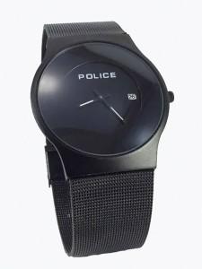 POLICE BLACK SAFER BELT ULTRA SLIM WATCH