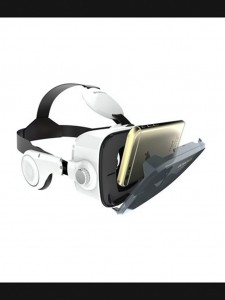 VR Z4 3D Glasses with Headphone – White