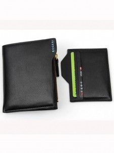 BOGESI Casual Black Genuine Leather Wallet