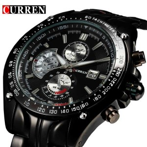 CURREN 8083 Expedition Analogue Black Dial Watch