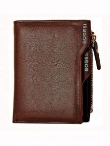 BOGESI Casual Brown Genuine Leather Wallet