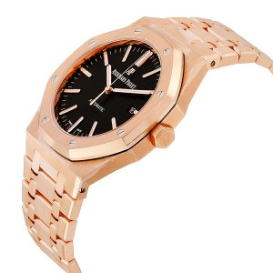 Audemars Piguet 15400 Royal Oak Self winding Rose Black Watch