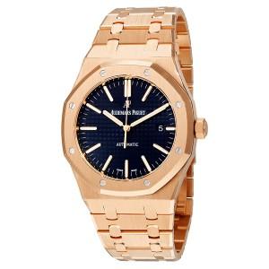Audemars Piguet 15400 Royal Oak Selfwinding Rose Blue Watch