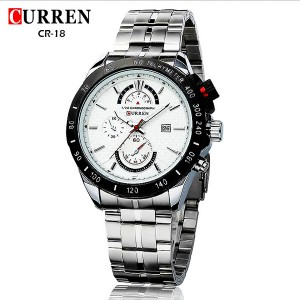 Curren 8148 Stainless Steel Men Wrist Quartz Watch