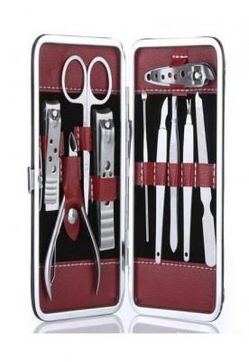 10 Pcs Portable Travel Stainless Steel Nail Care Clipper Pedicure Scissor Tweezer Manicure Set Kit