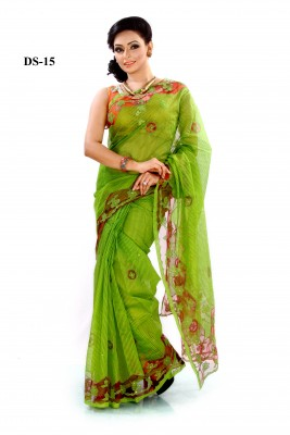 silk saree applique saree