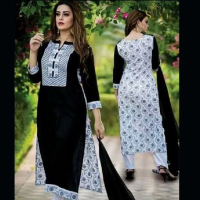 unstitched Cotton Block Printed Salwar Kameez