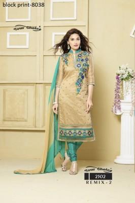 unstitched Cotton Block Printed Salwar Kameez
