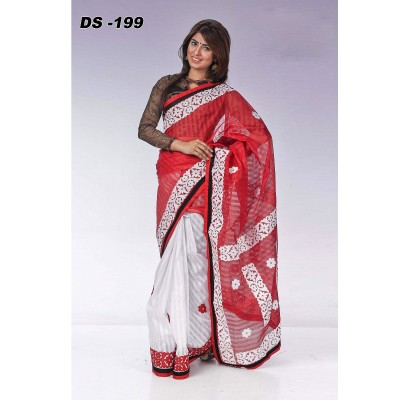 Step Kota Applique saree
