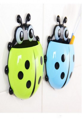 Cartoon Animal Sucker Ladybug Wall Mounted Toothbrush Holder Suction Cup