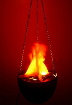 Decor LED Hanging Fake Flame Lamp