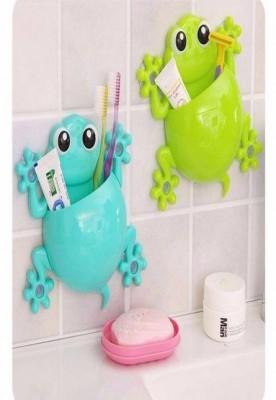 Frog shaped toothbrush holder