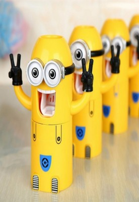 Yellow Minions Automatic Toothpaste Dispenser