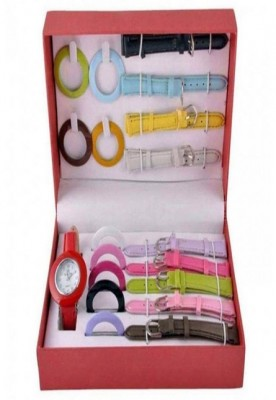 10 in-1 ladies dial belt changeble watch