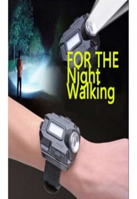 Rechargeable LED flashlight wrist watch
