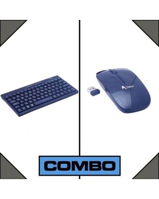 Combo Of A.Tech Mini Wireless Keyboard & Mouse-C: 0014