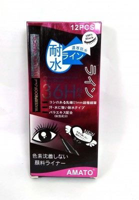 6H Black Waterproof Lash Pencil Precision Liquid Eye Liner