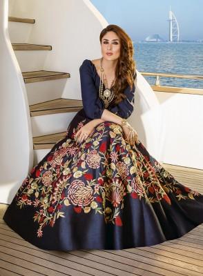 Designer with embroidery work length floor salwar suit kareena 025