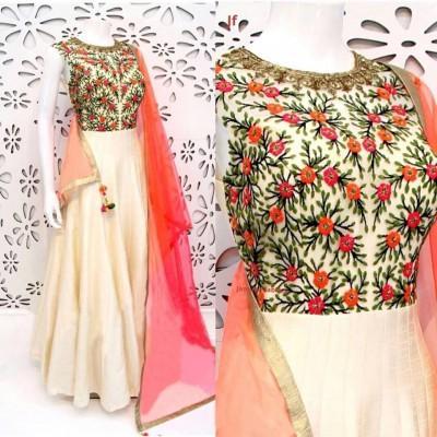 georgette with embroidery work salwar kameez suit  nokshi 026