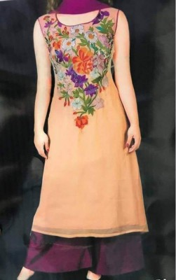 Embroidery soft georgette dress for woman nokshi 036