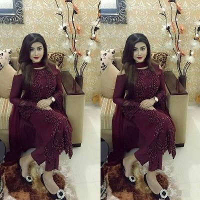 georgette with embroidery work salwar kameez  suit saniya 021