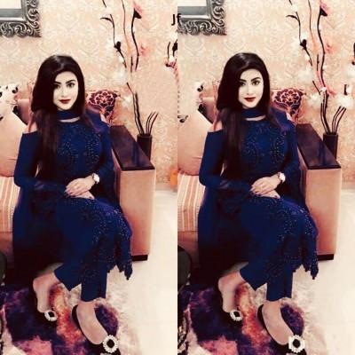 blue georgette with embroidery work salwar kameez suit saniya 022