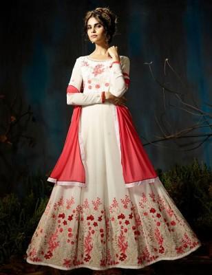 georgette with Embroidery Floor Length Designer salwar suit  sutva 028