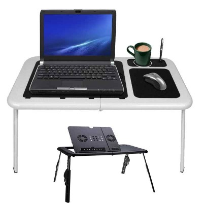 Laptop Table With Cooling fan Mouse Pad