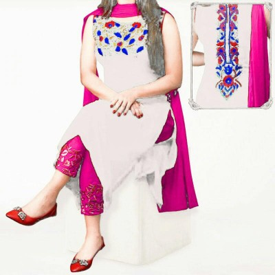 un-stitched georgette salwar kameez-1110
