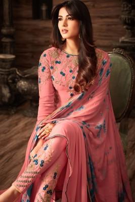 un-stitched  georgette with embroidery salwar kameez maisha-4808