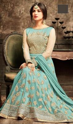 un-stitched  georgette with embroidery work floor length salwar kameez maisha-5103