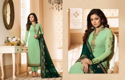 un-stitched Georgette Embroidered salwar kameez Nc-8931