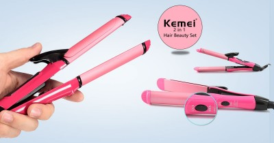 Kemei KM - 1055 2 In 1 Dual Roll Hair Straightener-C: 0256