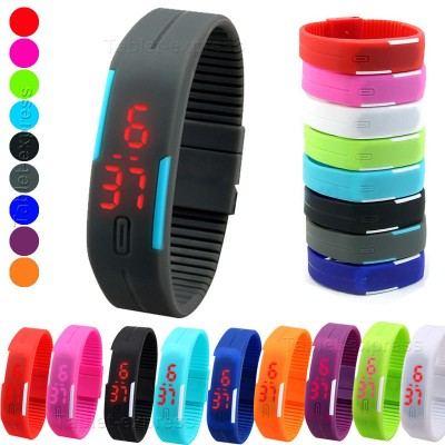 Led Waterproof Silicone Watch-C: 0279