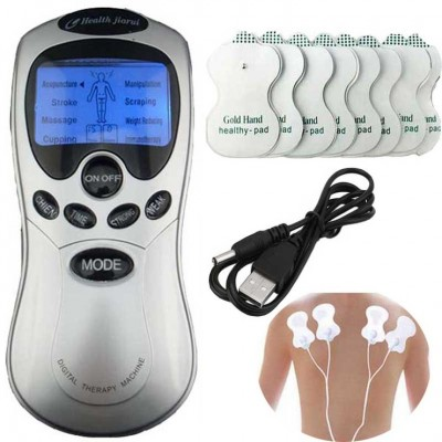Therapy Machine / Full Body Pulse Muscle Relax Massager - 8 Pads-C: 0303.