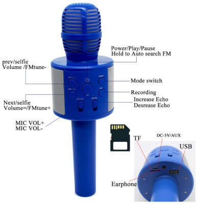 Wireless Karaoke Q858 - Bluetooth KTV HIFI Speaker-C: 0310