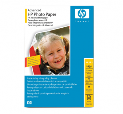 HP Advanced Glossy Photo Paper 250gsm A4- 50 sheets