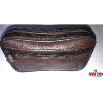 Leather Waist 03 Zippers Pocket Bag-C: 0319