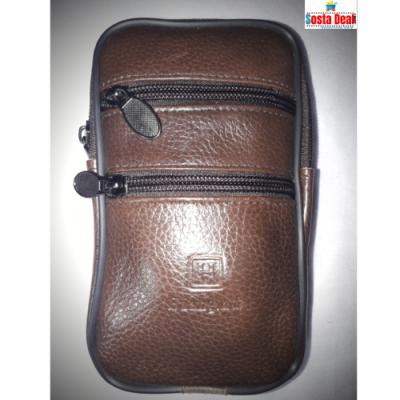 Leather Waist 04 Zippers Long Pocket Bag-C: 0320
