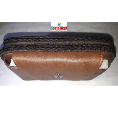 Leather Waist Push Button 03 Pockets Bag-C: 0321