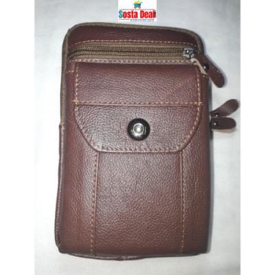 Leather Long Push Button 05 Pockets Bag-C: 0322