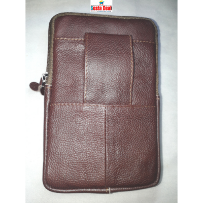 Leather Long Push Button 05 Pockets Bag-C: 0322